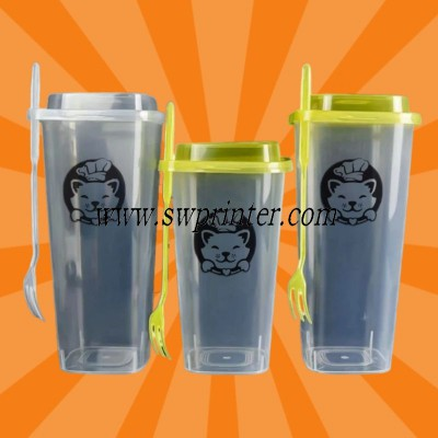 Disposable plastic square cup pad printing machine printer